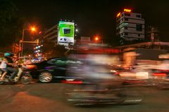 Ho Chi Minh City lights by night Stock Images