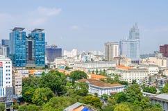 Ho Chi Minh City metropolis och centrum av Saigon, Vietnam arkivbilder