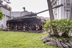 Ho Chi Minh City Museum ehemaliges Saigon lizenzfreie stockbilder
