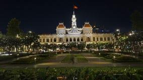 Ho Chi Minh City natt Vietnam Arkivfoto