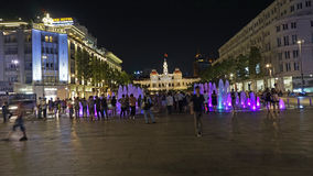 Ho Chi Minh City night Vietnam. Ho Chi Minh City night commonly known as Saigon is a city in southern Vietnam famous for the pivotal role it played in the royalty free stock image