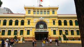 Ho Chi Minh City Post-Bureau of Saigon Centrale Postoffice†‹ stock fotografie