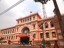 Ho Chi Minh City-Post Office. A popular tourist attraction in Ho Chi Minh City Stock Photography
