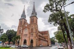 Ho Chi Minh City, Saigon/Vietnam - circa August 2015: Saigon Notre-Dame Basilica in Ho Chi Minh City  (Saigon) Royalty Free Stock Images