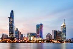 Free Ho Chi Minh City Skyline At Sunset. Amazing Cityscape Stock Photography - 153947642