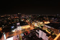 Ho Chi Minh City Skyline la nuit Photo libre de droits