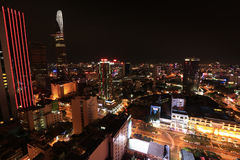 Ho Chi Minh City Skyline at Night Stock Image