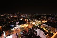 Ho Chi Minh City Skyline på natten Royaltyfri Foto
