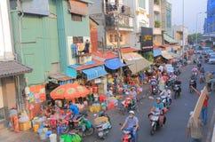 Ho Chi Minh City street cityscape Saigon Vietnam Stock Photos