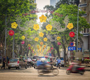 Ho Chi Minh City Street, Vietnam Stock Foto