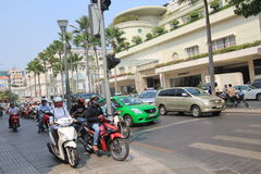 Ho Chi Minh City street view in Vietnam Royalty Free Stock Image