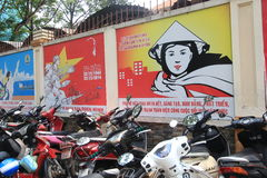 Ho Chi Minh City street view in Vietnam Stock Photography