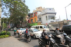 Ho Chi Minh City street view in Vietnam Royalty Free Stock Photography