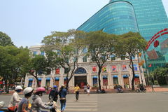 Ho Chi Minh City street view in Vietnam Stock Image