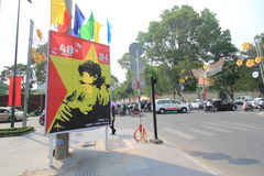 Ho Chi Minh City street view in Vietnam Royalty Free Stock Photos
