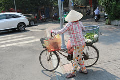 Ho Chi Minh City street view in Vietnam Royalty Free Stock Photo
