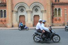 Ho Chi Minh City street view in Vietnam Stock Photos