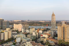 Ho Chi Minh city in sunshine. Ho Chi Minh City has the most dynamic economy in Vietnam Stock Image