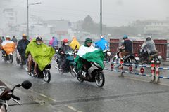 Heavy rain after storm Stock Photos