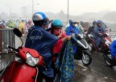 Couple soaking wet in rain Royalty Free Stock Photo