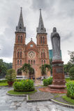 Ho Chi Minh City, Vietnam - circa August 2015: Saigon Notre-Dame Basilica in Ho Chi Minh City  (Saigon) Royalty Free Stock Photography