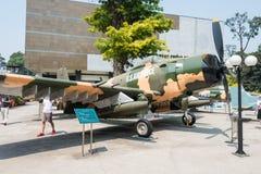 Ho Chi Minh City, Vietnam - 27 de enero de 2015: Douglas A-1 Skyraider a Fotos de archivo libres de regalías