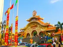 Ho Chi Minh City, Vietnam - 10 de febrero de 2011: El senador de la presa del aquapark Foto de archivo libre de regalías