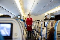 Stewardess no trabalho Foto de Stock Royalty Free