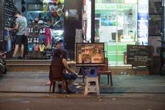 Bui Vien Street. Ho Chi Minh City, Vietnam - 30 December 2017. Bui Vien Street is the main street of the so called 'backpackers area' of Ho Chi Minh City Royalty Free Stock Photos