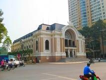 Ho Chi Minh City, Vietnam - February 11, 2011: The historic Saigon Opera House in Khoi Street, Ho Chi Minh City Stock Photography