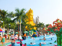 Ho Chi Minh City, Vietnam - February 10, 2011: people enjoy the vacation at a aquapark Dam Sen Royalty Free Stock Photo