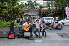 Ho Chi Minh city, Vietnam, guitar, street Royalty Free Stock Photos