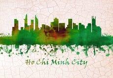 Ho Chi Minh City Vietnam horisont royaltyfri illustrationer