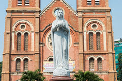 Ho Chi Minh City, Vietnam - Jan 26 2015: Saigon Notre-Dame Basil Royalty Free Stock Image