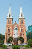 Ho Chi Minh City, Vietnam - Jan 26 2015: Saigon Notre-Dame Basil Royalty Free Stock Photography