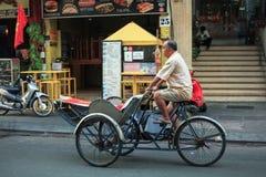 Bui Vien Street. Ho Chi Minh City, Vietnam - 1 January 2018. Bui Vien walking street morning view in Ho Chi minh City Royalty Free Stock Photos