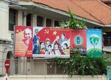 Ho Chi Minh City Vietnam Landschappen van de stad, godsdienstige tempels, illustraties van Vietnamees art. stock afbeelding