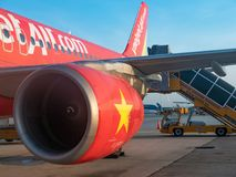 VietJet Air in Ho Chi Minh City Stock Photos