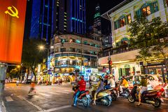 Free Ho Chi Minh City, Vietnam: Night View Of Mac Thi Buoi & Dong Khoi Streets Stock Photography - 141802612