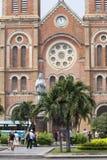 HO CHI MINH CITY,VIETNAM-NOV 4TH: Tourists congregating outside Stock Photography