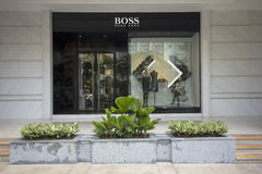 HO CHI MINH CITY, VIETNAM-OCTOBER 30TH 2013: Hugo Boss store in Stock Photography