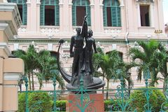 Ho Chi Minh City Vietnam Paisagens da cidade, templos religiosos, ilustrações da arte vietnamiana foto de stock