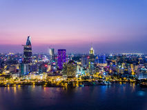 Ho Chi Minh City Vietnam Saigon lizenzfreie stockfotografie