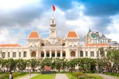 Ho Chi Minh City, Vietnam, 26 12 Stadtratgebäude 2017 Lizenzfreies Stockfoto