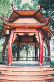 Ho Chi Minh City Vietnam, traditionell Gazebo 12,25,2017 Royaltyfri Foto