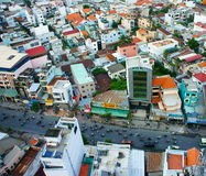 Ho Chi Minh city view, dense urban Royalty Free Stock Photography