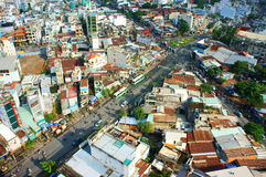 Ho Chi Minh city view, dense urban Stock Photo