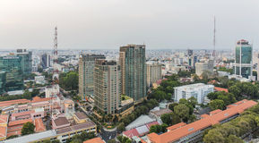 Ho Chi Minh city view from top of building. Ho Chi Minh City has the most dynamic economy in Vietnam Royalty Free Stock Photos