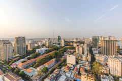 Ho Chi Minh city view from top of building. Ho Chi Minh City has the most dynamic economy in Vietnam Stock Photo