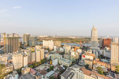 Ho Chi Minh city view from top of building. Ho Chi Minh City has the most dynamic economy in Vietnam Royalty Free Stock Photography